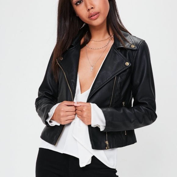 17a375b2b186 Missguided Faux Leather Jacket. M 5a9e036e61ca10db481a3d1a